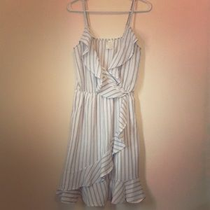 Dresses & Skirts - spaghetti strap pinstriped dress